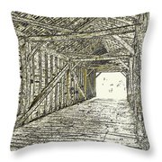 The Covered Bridge Dm  1 Throw Pillow