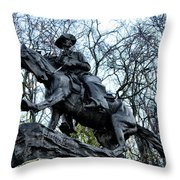The Cowboy Throw Pillow by Bill Cannon