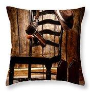 The Cowboy Chair Throw Pillow