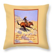 The Cowboy With Quote Throw Pillow