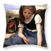 The Crab-1869 Throw Pillow