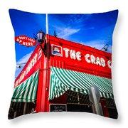 The Crab Cooker Newport Beach Photo Throw Pillow