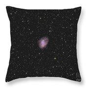 The Crab Nebula, A Supernova Remnant Throw Pillow