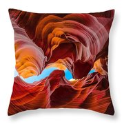The Crack In The Sky Throw Pillow