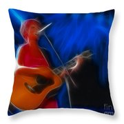 The Cranberries-dolores-1-fractal Throw Pillow