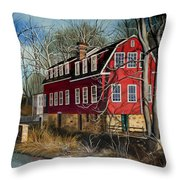 The Cranford Mill Throw Pillow