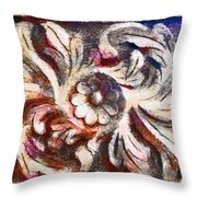 The Crayoned Leaves  Throw Pillow