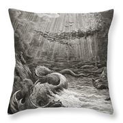 The Creation Of Fish And Birds Throw Pillow