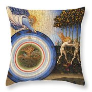 The Creation Of The World And The Expulsion From Paradise Throw Pillow