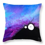 The Creatures From The Drain Painting 11 Throw Pillow