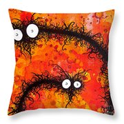 The Creatures From The Drain Painting 31 Throw Pillow