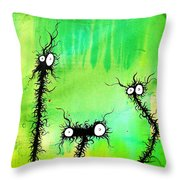 The Creatures From The Drain Painting 4 Throw Pillow
