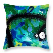 The Creatures From The Drain Painting 42 Throw Pillow