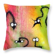 The Creatures From The Drain Painting 8 Throw Pillow