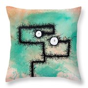 The Creatures From The Drain Painting 9 Throw Pillow