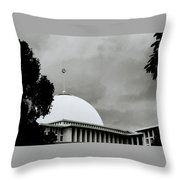 The Crescent And Star Throw Pillow