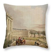 The Crescent, Detail Of The Street Throw Pillow