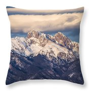 The Crestones Throw Pillow by Aaron Spong