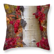 The Crimson Trace Throw Pillow