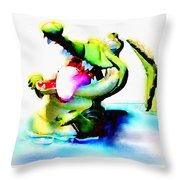 The Croco Throw Pillow