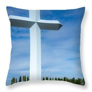 The Cross At Effingham Illinois Throw Pillow