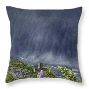 The Cross Throw Pillow by Douglas Barnard