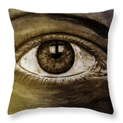 The Cross Eye Throw Pillow