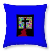 The Cross In Fauvism Throw Pillow