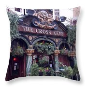 The Cross Keys Throw Pillow