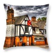 The Cross Keys Pub Dagenham Throw Pillow