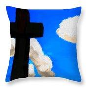 The Cross Of Christ Throw Pillow