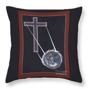 The Cross Shines On The Last Days Throw Pillow