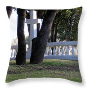 The Cross Through The Trees Throw Pillow