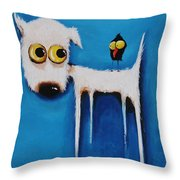 The Crow And The Dog Throw Pillow