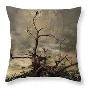 The Crow Tree Throw Pillow