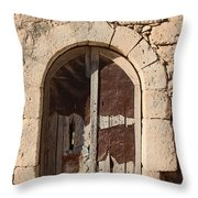 The Crying Door Throw Pillow