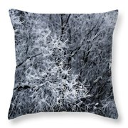 The Crystal Forest Throw Pillow