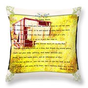 The Cubby House Throw Pillow
