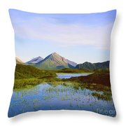 The Cuillin Hills Of Skye In The Western Isles Throw Pillow