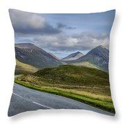 The Cuillin Mountains Of Skye 2 Throw Pillow