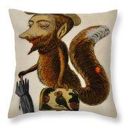 The Cunning Fox Throw Pillow