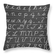 The Cursive Alphabet Throw Pillow