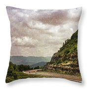 The Curve Blue Ridge Parkway Throw Pillow