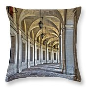 The Curve In Color Throw Pillow
