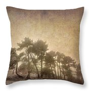 The Curved Tree Throw Pillow