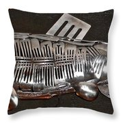 The Cutlery Fish Throw Pillow