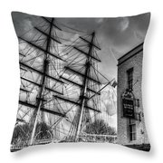 The Cutty Sark And Gipsy Moth Pub Greenwich Throw Pillow