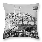 The Cyclone In Black And White Throw Pillow