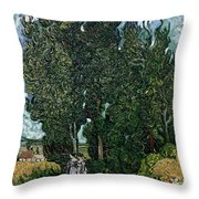 The Cypresses Throw Pillow