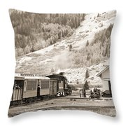 The D And S Pulls Into The Station Throw Pillow